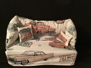 Deko-Sofa ❤️ Kosmetikbox Sofa ❤️ Taschentücherbox Sofa ❤️ Unikat - Amerikanische Oldtimer Route 66 - Handarbeit kaufen