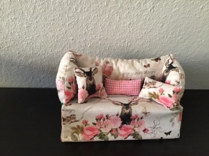 Deko-Sofa ❤️ Kosmetikbox Sofa ❤️ Taschentücherbox Sofa ❤️ Unikat - Hirsch - Handarbeit kaufen