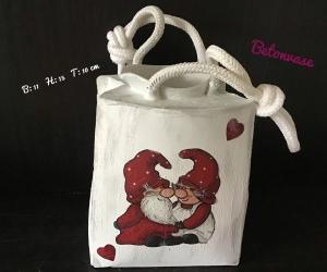 Betonvase ♥ Vase  ♥️Geschenk  ♥️ upcycling ♥ Unikat - Wichtel