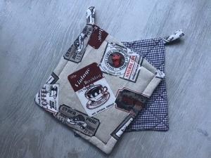 Topflappen Set ❤️ Geschenk ❤️ Weihnachten ❤️ Unikat - Coffee  - Handarbeit kaufen