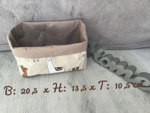 Utensilo  ❤️ Stoffbox ❤️ Aufbewahrung ♥️ Beige ♥️ Geschenk  ❤️ Unikat - Lamas