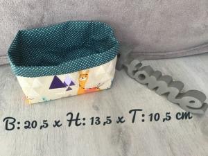 Utensilo  ❤️ Stoffbox ❤️ Aufbewahrung ♥️ Geschenk  ❤️ Unikat -  Lamas Türkis