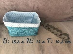 Utensilo  ❤️ Stoffbox ❤️  Aufbewahrung ♥️ Türkis ♥️ Geschenk  ❤️ Unikat - Muscheln