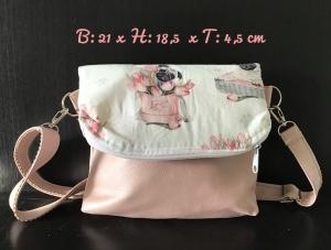 Fold Over  ❤️ Umhängetasche ❤️ Tasche  ❤️ Unikat - Möpse - Handarbeit kaufen
