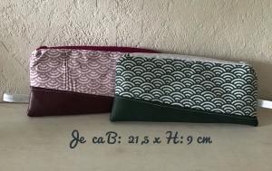 Schminktäschchen  ❤️ Schlüsseltasche ❤️Stiftetaschen ❤️ Geschenk  ❤️ Unikat - grün - Handarbeit kaufen