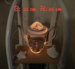 Beleuchtete Kaffeekanne  ♥ Einzigartig♥ Geschenk ♥ Vintage ♥ Unikat  - Winterspatzen
