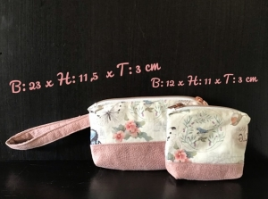 2er Set ❤️ Kulturtasche  ❤️ Kosmetiktasche ❤️ Schminktasche ❤️ ❤️ Unikat- Shabby Vintage - Handarbeit kaufen