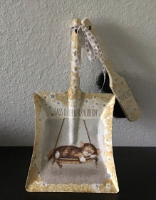 Kehrbesen Set ♥ handmade ♥️ einzigartiges Geschenk ♥️ Unikat - schlafende Katze - Handarbeit kaufen