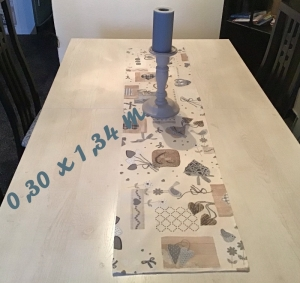 Läufer  ❤️ 2er Set ❤️ Tischdecke ❤️ Geschenk ❤️ Deko ❤️  Unikat - Landhausstil blau  - Handarbeit kaufen