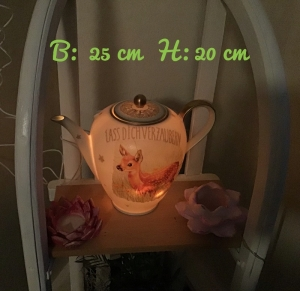 Beleuchtete Kaffeekanne  ♥ Einzigartig♥ Geschenk ♥ Vintage ♥ Unikat  - Rekitz - Handarbeit kaufen