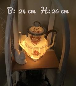 Beleuchtete Kaffeekanne  ♥ Einzigartig♥ Geschenk ♥ Vintage ♥ Unikat  -  i mag di .... - Handarbeit kaufen