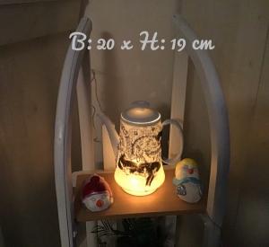 Beleuchtete Kaffeekanne  ♥ Einzigartig♥ Geschenk ♥ Vintage ♥ Unikat  -  Katze schwarz - Handarbeit kaufen