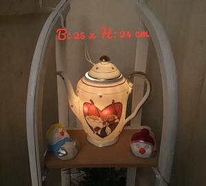Beleuchtete Kaffeekanne  ♥ Einzigartig♥ Geschenk ♥ Vintage ♥ Unikat  -  Wichtel - Handarbeit kaufen