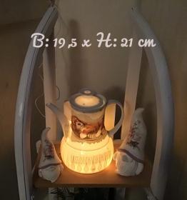 Beleuchtete Kaffeekanne  ♥ Einzigartig♥ Geschenk ♥ Vintage ♥ Unikat  -  Schlafender Hund  - Handarbeit kaufen