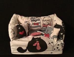 Deko-Sofa ❤️ Kosmetikbox Sofa ❤️ Taschentücherbox Sofa ❤️ Unikat -  Katzen - Handarbeit kaufen