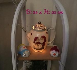 Beleuchtete Kaffeekanne  ♥ Einzigartig♥ Geschenk ♥ Vintage ♥ Unikat -  stehende Wichtel - Handarbeit kaufen