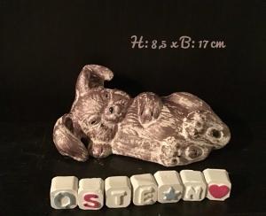 Liegender Hase ♥ Beton ♥️ Ostern ♥ Garten ❤️  Unikat  - Handarbeit kaufen