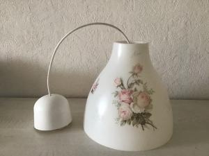 Deckenlampe ♥️ Einzigartig ♥️ Geschenk ♥ Vintage ♥  Unikat -  Rosen - Handarbeit kaufen