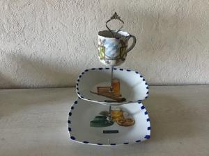 Etagere ♥ Porzellan  ♥️ Neu gestaltet ♥ upcycling ♥ Unikate -  Bayrisch - Handarbeit kaufen