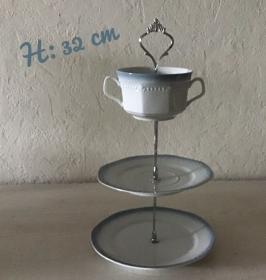 Etagere ♥ Porzellan  ♥️ Oma ´s Geschirr  ♥ upcycling ♥ Neu  Unikate -  Suppentasse - Handarbeit kaufen