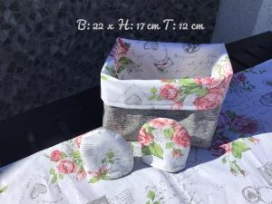 Sommerzeit ♥ Gartenzeit  ♥️ 1 Utensilo ♥️ 2 Eierwärmer ♥ 1 Läufer Unikat - grau  - Handarbeit kaufen