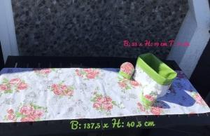 Sommerzeit ♥ Gartenzeit  ♥️ 1 Utensilo ♥️ 2 Eierwärmer ♥ 1 Läufer Unikat - grün  - Handarbeit kaufen