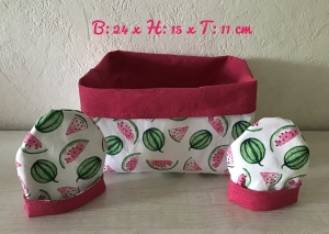 Utensilo + 2 Eierwärmer rund  ❤️ Frühstückstisch  ❤️ Unikat - Melone - Handarbeit kaufen
