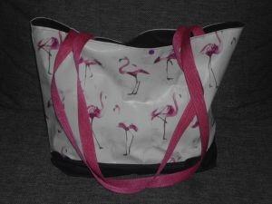 Einkaufsshopper ❤️ Saunatasche ❤️ Sportbeutel ❤️ Strandtasche ❤️ Unikat - Flamingo - Handarbeit kaufen
