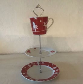 Etagere ♥ Porzellan  ♥️ Oma ´s Geschirr ♥ Vintage ♥ Unikate - Weihnachten - Handarbeit kaufen