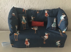 Deko-Sofa ❤️ Kosmetikbox Sofa ❤️ Taschentücherbox Sofa ❤️ Unikat -  Enten lustig - Handarbeit kaufen