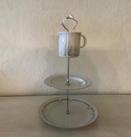 Etagere ♥ Porzellan  ♥️ Oma ´s Geschirr ♥ Vintage ♥ Unikate -  Goldig - Handarbeit kaufen