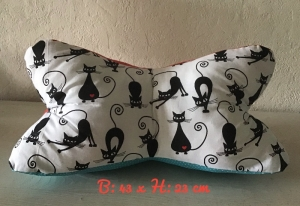 Leseknochen ❤️ Nackenkissen ❤️ Lagerungskissen  ❤️ Geschenk ❤️Unikat - Katzen klein