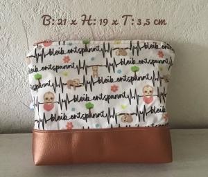Kulturtasche  ❤️ Kosmetiktasche ❤️ Schminktasche ❤️ Geschenk  ❤️ Unikat -  Bleib entspannt ... - Handarbeit kaufen