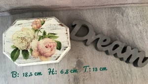 Kleine Holzschatulle - Kästchen - Spiegel - Landhausstil - vintage - Rosa Rosen - Handarbeit kaufen