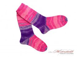 Größe 37-38 Wollsocken handgestrickt Neonsocken Wollstrümpfe handknit wool socks