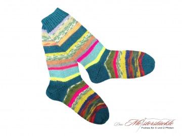 Größe 36-37 Wollsocken handgestrickt Wollstrümpfe handknitten socks gestrickte Strümpfe Ringelsocken straped woolsocks