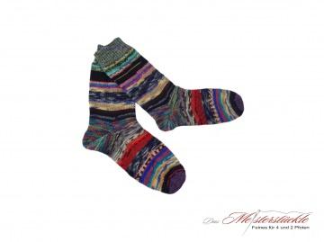 Größe 37-38 Unikat! Wollsocken handgestrickt Wollstrümpfe Ringelsocken handknitten wool socks