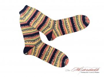 Größe 42-43 Wollsocken handgestrickt handknitten socks woolensocks strapedsocks