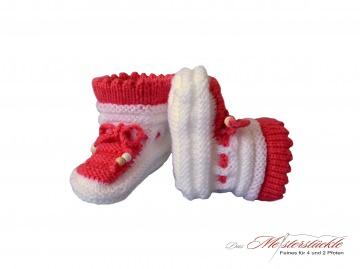 Babyschuhe handgestrickt - Babys first Socks Erstlingsschuhe