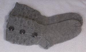 Handgestrickte Socken hausschuhe bettsocken Gr.37-39 - Handarbeit kaufen