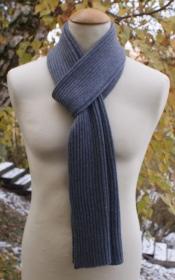 Gerippter Schal aus Kaschmir - Handarbeit kaufen