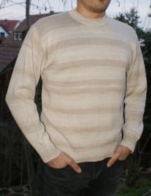 Pullover aus Baumwolle, Gr. 48-50 - Handarbeit kaufen