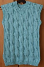 Shirt Pullover ohne Ärmel Gr. 38 - Handarbeit kaufen