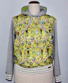 Damen Sweatshirt mit Kapuze und besonderen Printmotiv für die Coole Frau