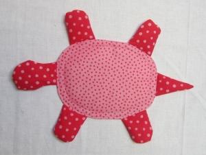 Knistertuch Schildkröte, Schnuffeltuch, Rassel, Westfalenstoffe, Babyspielzeug, 2 Farben, Handarbeit  - Handarbeit kaufen