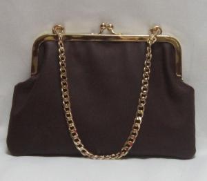 Brieftasche, Ledertasche mit Clipverschluss, Clutch, Bügeltasche, Frame, Granny Bag bordo/ aubergine, Handarbeit - Handarbeit kaufen