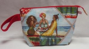 Auslaufsichere Kulturtasche, Waschtasche Fruit Ladies, großer Kulturbeutel - Handarbeit kaufen