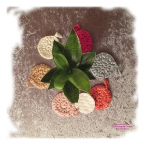 4 Waschbare Kosmetikpads – Weiche Abschminkpads (Ø ca. 9 cm) – Gehäkelt aus Bio-Bambus-Viskose – Vegan – Zero Waste - 4 Stück