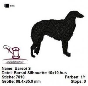 ☀☀☀ Barsoi Silhouette, Stickdatei 10x10  ☀☀☀