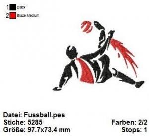 ☆☀☆ Stickdatei Fußball, Fußballer, WM, EM, 10x10 ☆☀☆  - Handarbeit kaufen